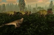 Anatosaurus herd in game