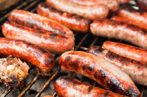 Italian sausage on the grill