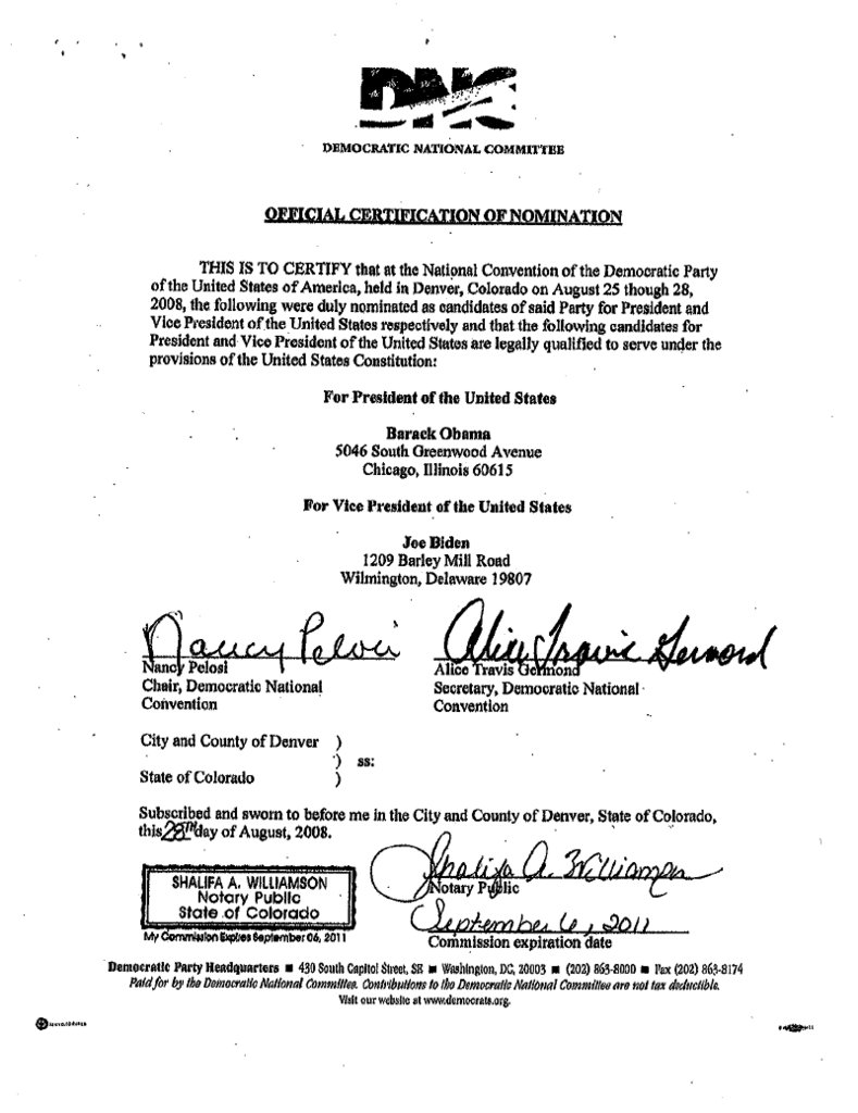 Official forms save our rights fandom powered by wikia democratic national committee certification of nomination edit naturalborncitizenhawaiicertific 2 1betcityfo Image collections