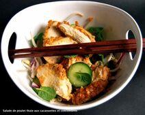 Salade de poulet thaie cacaouettes et concombre