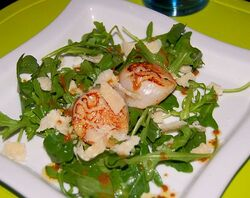 St-jacques-salade