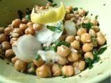 Balila ou pois chiches au cumin et citron en salade