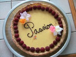 Tarte fruits de la passion 01