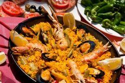 Paella aux fruits de mers
