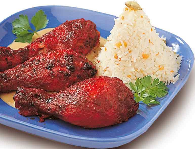 Image Poulet Tandoori Indien Jpg Wikia Saveurs Du Monde - Cuisine indienne poulet tandoori