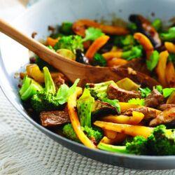 Boeuf sauté aux légumes