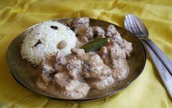 Agneau aux amandes et au lait de coco