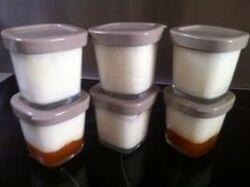 Yaourts confiture d'abricots maison