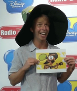 Jack McBrayer with Wander's Hat