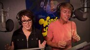 April Winchell and Jack McBrayer Recording