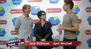 Jack McBrayer and April Winchell at Radio Disney