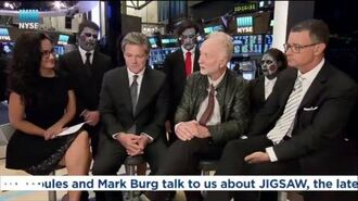 NYSE talks to Tobin Bell, Oren Koules and Mark Burg about JIGSAW