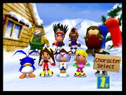 The Cast of Snowboard Kids 2