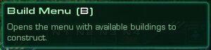 Info buildmenu