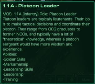 11A Platoon Leader