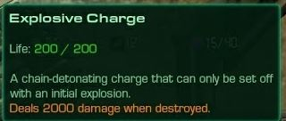 Explosive Charge Description