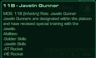 11B Javelin Gunner