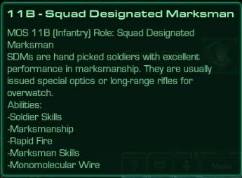 11B Squad Designated Marksman