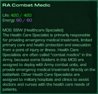 Combat Medic Info