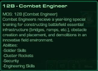 12B Combat Engineer
