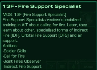 13F Fire Support Specialist
