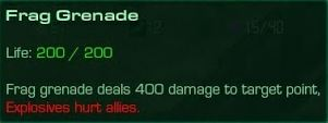 Frag Grenade Description