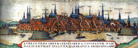 Litography of Lübeck