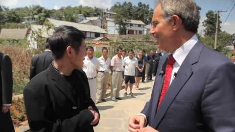 Jet Li and Tony Blair launch 1000 village plan to tackle climate change