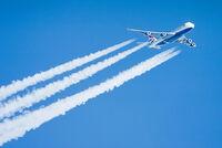 British Airways Boeing 747 contrail