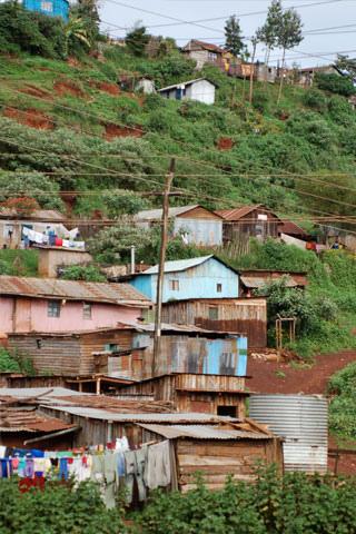 Kenyan Town on a Hillside