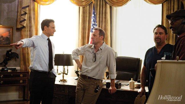2013 THR Set Visit - Tony Goldwyn and Tom Verica 01