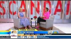 Portia de Rossi talks 'Scandal' on Good Morning America (Feb 12th, 2015)
