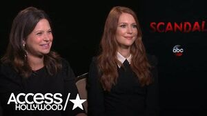 'Scandal' Katie Lowes & Darby Stanchfield React To Dramatic S7 Poster; Talk Final Season