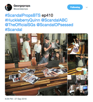 4x10 (09-27-16) George Props - Scandal Crew and Cast 01