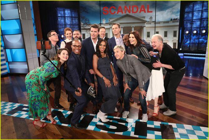 2018 Scandal on The Ellen Show - Scandal Cast 013