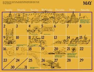 1976 sesame calendar 05 may 2