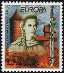 Briefmarke Rose von Turaida