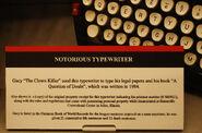 Gacys Schreibmaschine