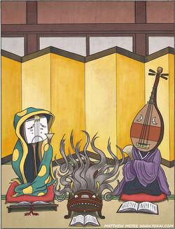 Shami chōrō Koto furunushi und Biwa-bokuboku