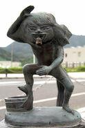 Akaname Statue