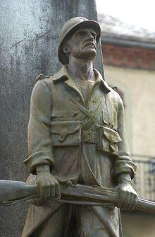 Versteinerter Soldat