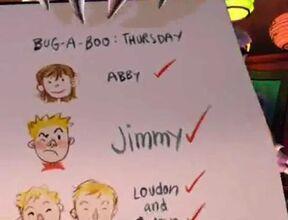 Jimmy on Bug-A-Boo list