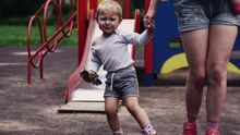 Boy cryin in the Playground