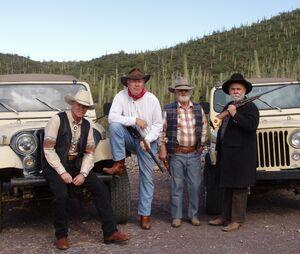 Cowboys jeep