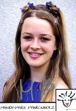 Laura Marwege-Autogrammkarte
