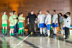 Das grosse Fussballspiel Maenner gegen Frauen steht bevor-SE-787-MDR