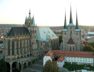 Erfurt cathedral and severi church-2