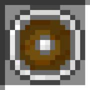 Round iron shield icon