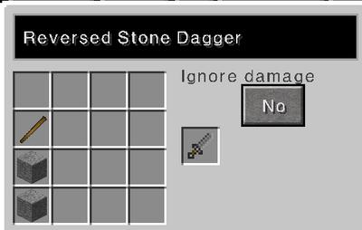 Reversed stone dagger recipe