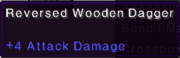 Reversed wooden dagger stats